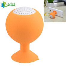 Orange Mini Speaker Loudspeaker Suction Holder Wine Goblet Portable Audio Sound Player For Smartphone Mobile Phone