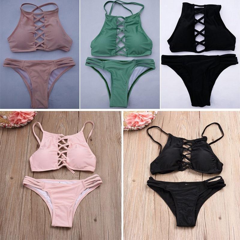 Bikini 2019 Women Push-up Padded Bra Bandage Bikini Set Swimsuit Triangle Swimwear Bathing Swimming Suit For Women Summer Bikini
