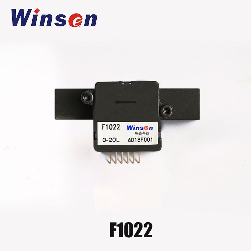 2ピースwinsen f1022マイクロ流量センサーを採用している熱力学原理に検出ガス流量で温度補償高精度  グループ上の ツール からの フローセンサー の中 1