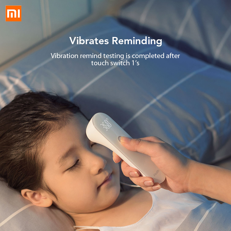 Original Xiaomi Mijia iHealth Thermometer LED Non Contact Digital Infrared Forehead Body Thermometer for Baby Kids Adults Elders