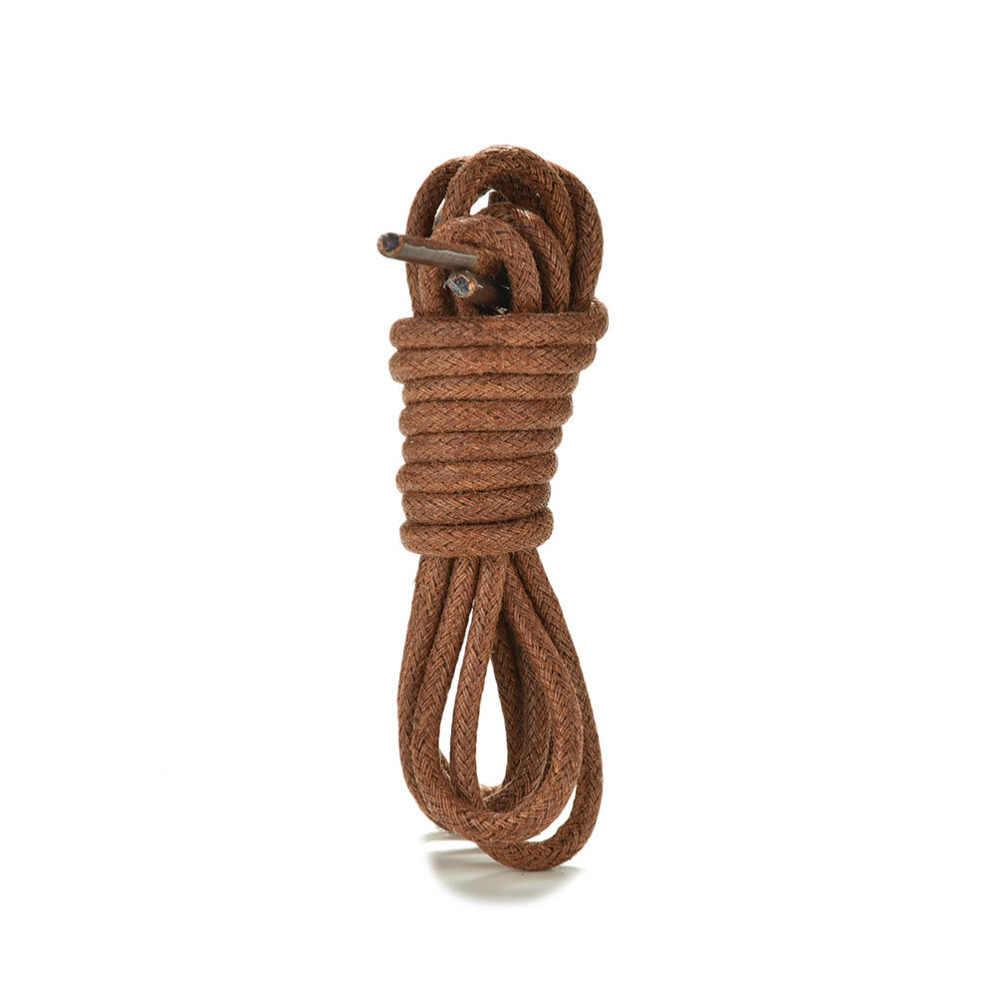 1 par 8 colores 75-85cm moda casual Cordón de piel Multi Color algodón encerado cordones de zapatos redondos