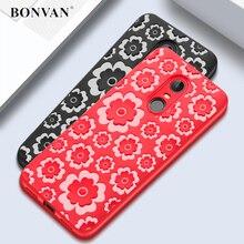 ФОТО bonvan for xiaomi redmi 5 plus case 3d relief silicone plain floral soft cover for xiaomi redmi 5 silicon flower xiomi coque