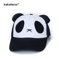Kakaforsa cha mẹ và con panda in cotton mũ bóng chày phim hoạt hình thêu snapback hats chất lượng cao casual hip hop hat mặt trời