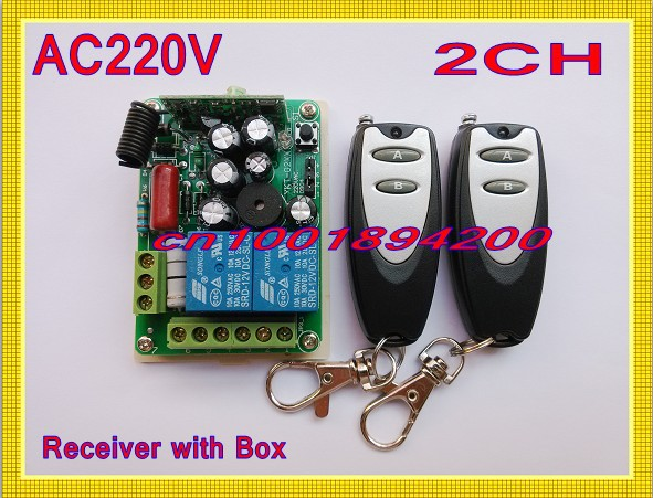 220V 2 Channel Lighting Remote Control Switches Lamp LED Light Remote ON OFF Switch System 1Receiver 2Transmitter Learning Code remote control switch led light lamp remote on off system ac85v ac260v 100v 110v 240v 230v 127v learning code receiver 315 433