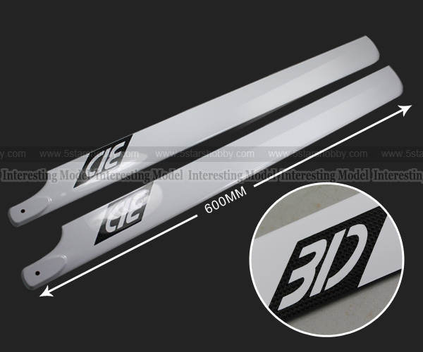 3K Carbon Fiber 600mm Main Blade for Align Trex T rex RC 600 Helicopter