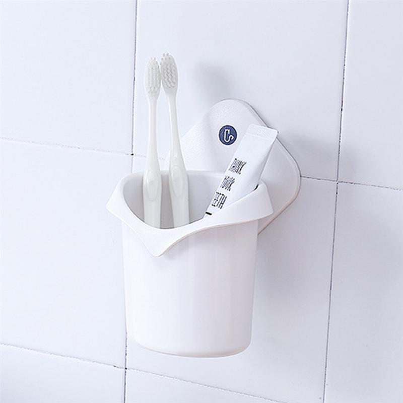 Image 5 - Punch Free Drain Storage Box Suction Cup Toothbrush Holder Bathroom Hanger Storage Organizer Hanging Toothpaste Stand Organizer-in Toothbrush & Toothpaste Holders from Home & Garden