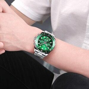 Image 5 - ساعة رجالي من MEGIR ساعة يد فاخرة من ماركة كرونوغراف كوارتز ساعات معصم للأعمال من الفولاذ المقاوم للصدأ ساعة رجالية