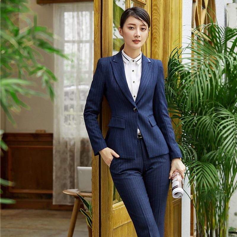 Chaquetas y Blazers formales para mujer con rayas azul