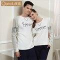 Qianxiu pijamas de algodón para Hombres en el otoño del nuevo parejas carta impresión men's clothing puede ser usado de servicio a domicilio