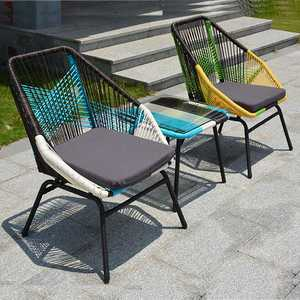 Rattan Sofa Chair Furniture-Set Outdoor Good-Quality Leisure New