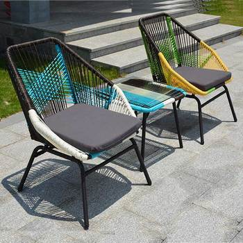 Yeni kaliteli açık Rattan kanepe bahçe kanepe boş sandalye plaj sandalyesi dış mekan mobilyası ürünleri seti hintkamışı mobilya seti