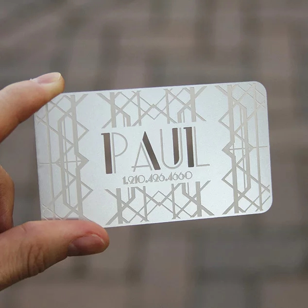 0.3 Mm Thickness Etching Metal Business Cards Stainless Steel Name Card