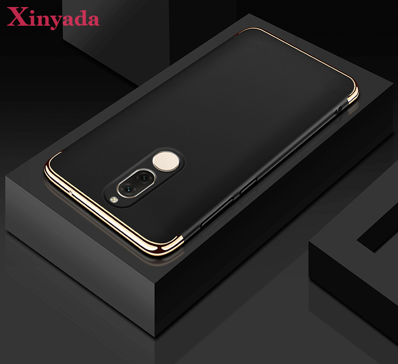 Xinyada Luxury Plastic PC Back Case For Huawei Nova 2i Maimang 6 Mate 10 Lite Matte Cases Cover 3in1 Plating Shockproof