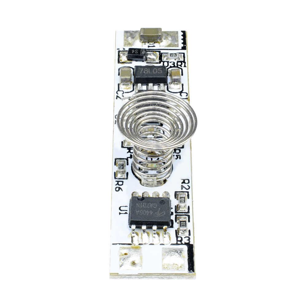 Interruptor de resorte de la bobina del interruptor del Sensor táctil capacitivo de 12V DC interruptor de Control del atenuador LED 9-24V 30W tira de luz LED para hogar inteligente 3A