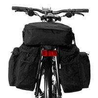 MTB 도로 자전거 안장 가방 3-IN-1 다기능 자전거 파니 37L 자전거 가방 자전거 사이클링화물 캐리어 바구니 자전거