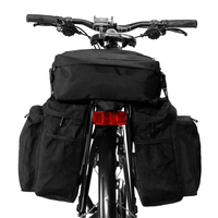 MTB Road Bike Saddle Bag 3 IN 1 Multi functional Bike Pannier 37L Bicycle Bag Bicycle Cycling Cargo Carrier Basket for Bicyle