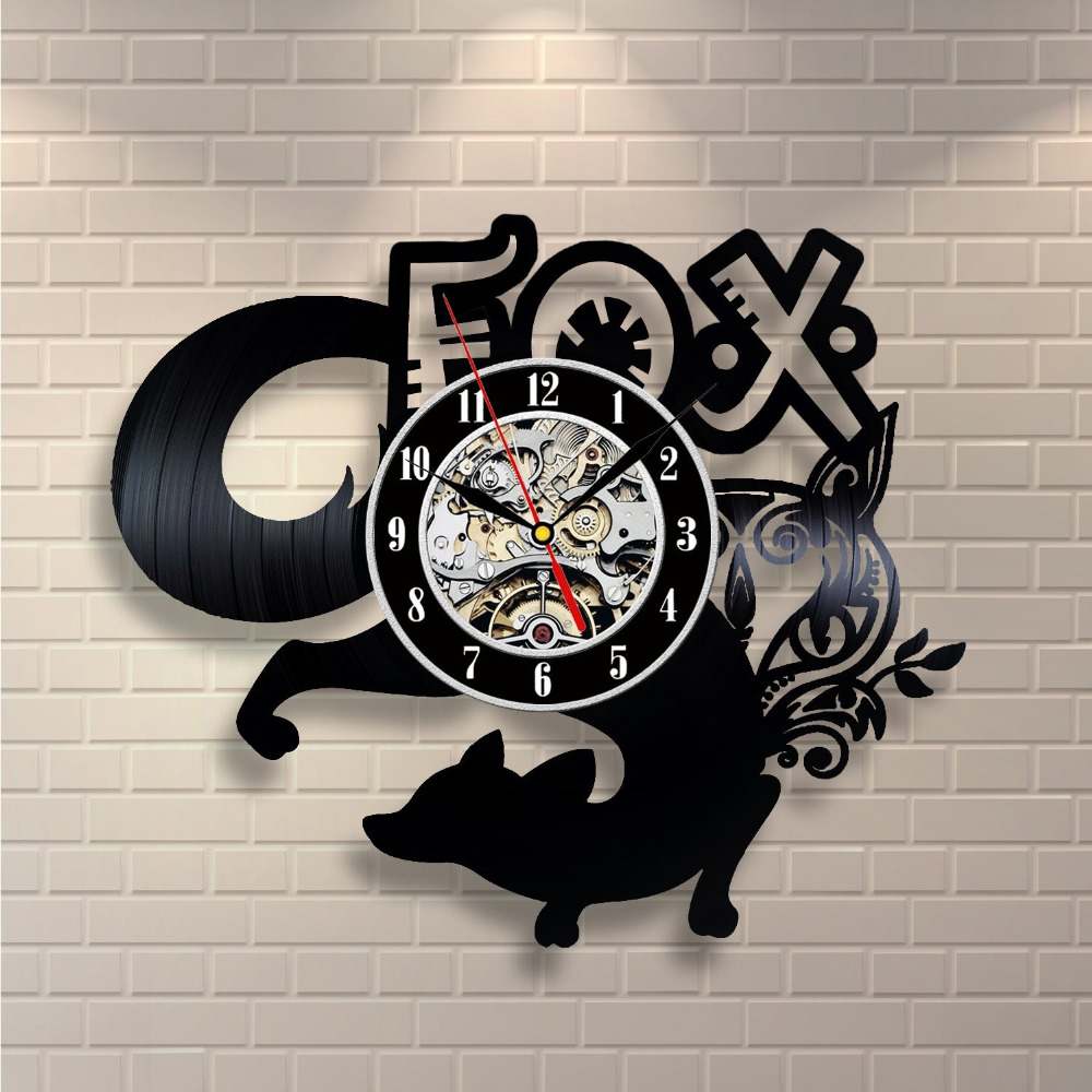 Good Fox Room Decor Vinyl Record Clock Wall Art Home Get Unique Living Gift Ideas For Teens Friends With Gifts