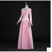 Top Quality Sleeping Beauty Princess Aurora Cosplay Costume Dress For Adult Women Dress Custom Made S 2XL