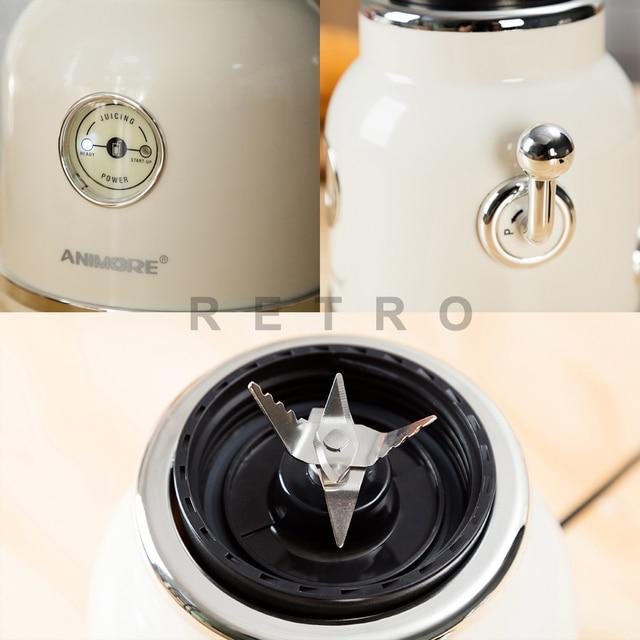 ANIMORE Juice Blender Retro Fruit Juicer Baby Food Milkshake Mixer Multifunction Juice Maker Machine Portable Fruit Blender 2