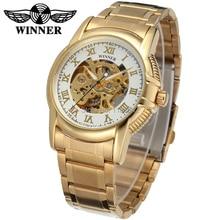 Новый Бизнес Часы Мужчины Завод Магазин Высочайшее Качество золото Автоматическая Мужские Часы из нержавеющей стали Бесплатная Доставка WRG8072M4G2