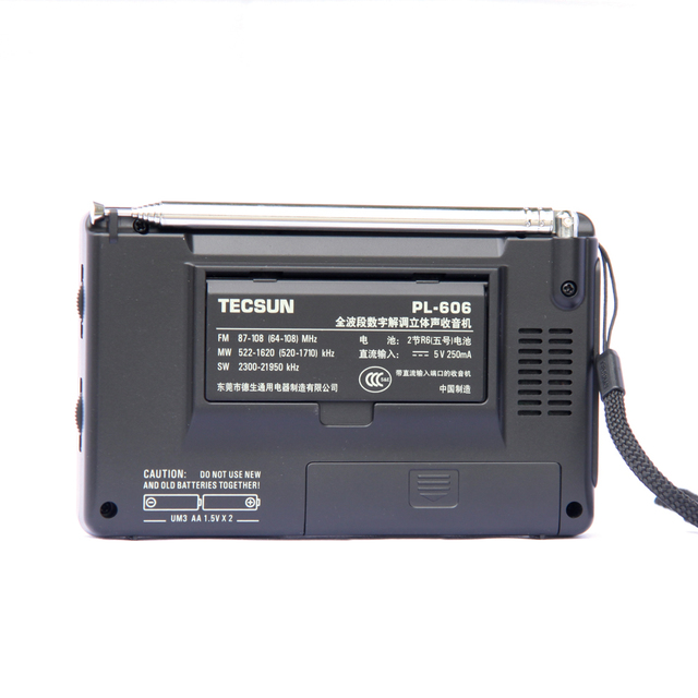 Радиоприемник TECSUN PL-606, PLL, FM/LW/SW/MW, DSP, Интернет-радио