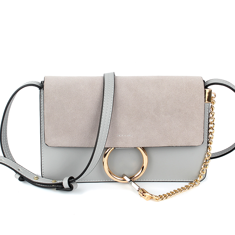 2017 Women Fashion Genuine Leather Crossbody Bag Chain Nubuck Flap Shoulder Bag цена