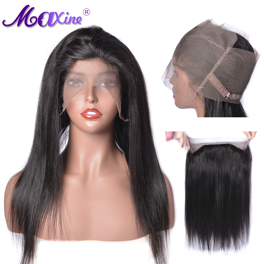 Maxine 360 Lace Frontal Straight Swiss Lace Frontal Pre Plucked With Baby Hair Brazilian 360 Lace
