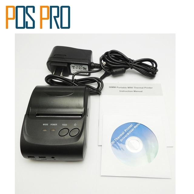 IMP006B Горячие продажи Мобильный Мини Портативный Термальный Чековый Принтер Портативный Принтер Bluetooth 4.0 для android и iOS