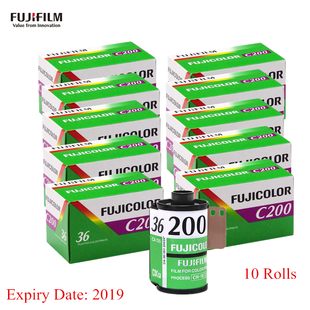 10 Roll Lot Fujifilm C200 Color 35mm Film 36 Exposure For 135 Format Fujicolor Camera Lomo Holga Bc Dedicated In From Consumer Electronics On