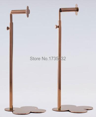 New Clover Rose Gold Adjustable stainless steel <font><b>Display</b></font> Rack Women Handbag Bag <font><b>Display</b></font> Stand Rack