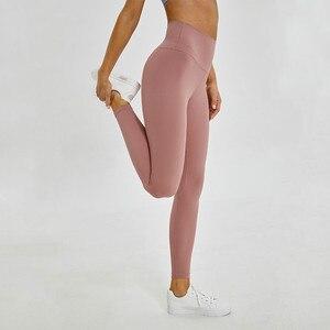 Image 4 - Shinbene classic 2.0 amanteigado macio nu sinta se atlético leggings de fitness feminino elástico agachamento à prova ginásio esporte collants yoga calças