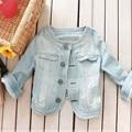 Qbale Весна Куртка Женщин Короткие Куртки 2017 Новая Мода Дамы Тонкий Кадрированные Джинсы Джинсовые Куртки