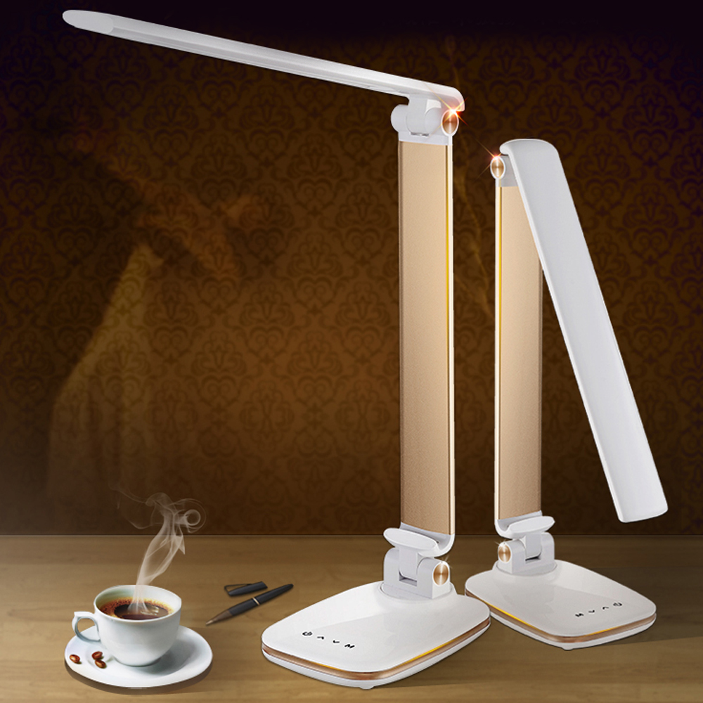 12W 78 PCS LED Desk Lamp 3 Light Modes Foldable Rotatable Eye Care Reading Light Touch Switch Dimmer ABS & Alloy Led Table Lamps new led table lamp 12w foldable 7 levels dimmer rotatable eye care led desk lamp touch sensitive controller usb eu us plug