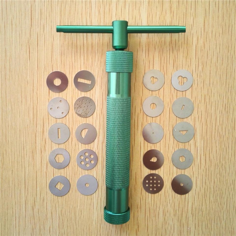 High Quality Green Clay Extruders Sculpture Gun Clay Sugar Paste Extruder Fondant Cake Sculpture Polymer Gun Tool