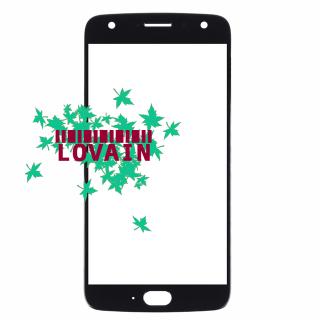 """LOVAIN 50PCS Black Blue For Motorola Moto X4 XT1900 Front Glass Lens 5.2"""" Touch Screen LCD Outer Panel Repair Replacement Part"""