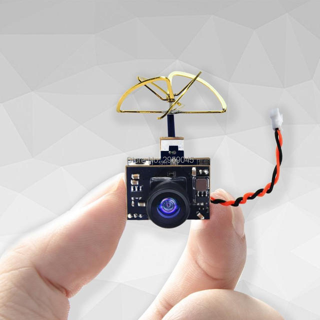 AKK A1 Mini 5.8Ghz 40CH 25mW FPV Transmitter Raceband 600TVL FPV Micro AIO Camera with Clover Antenna for FPV Camera System