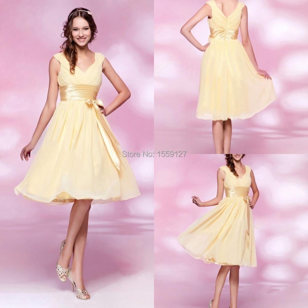 Lujo Vestidos De Dama De Color Amarillo Y Morado Adorno - Colección ...