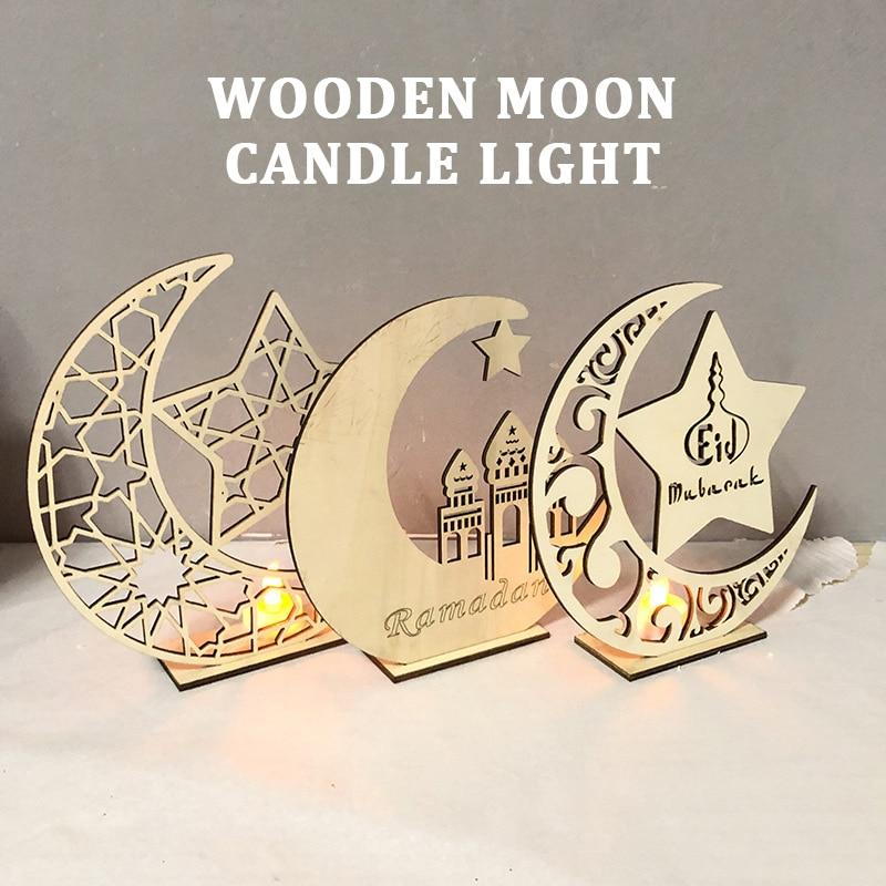 Candles Lamp Candles Light LED Tealight Eid Mubarak Table Decoration Romantic Super Bright Holiday Decor Ramadan