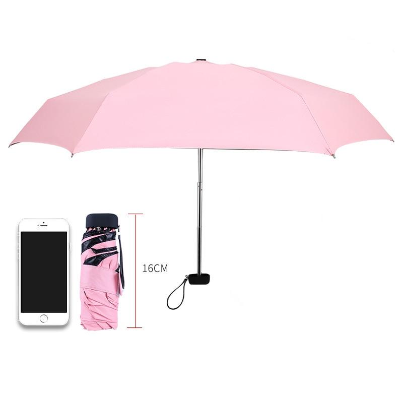 זכר נקבה 200G קומפקטי 5 מתקפל גשם Travele אור אלומיניום אדום ירוק נשים גברים באיכות גבוהה מטריות שמשיה זולה