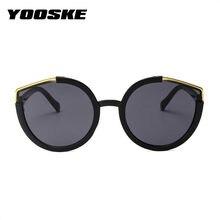 69f26878fb YOOSKE gato ojo gafas de sol mujer Retro marca diseñador Oversized gafas de  sol hombres medio marco Eyewear femenino UV400