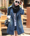 2015 HOT Jeans Woman Surprised Cool Fashion Women Lady Denim Trench Coat Jeans Outerwear Jean plus large size CasualSS67
