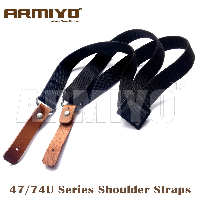 Armiyo AK 47 / 74U Series Nylon Gun Mission Sling Shoulder Strap Harnesses Belt Hunting Shooting Accessories Black Tan Green