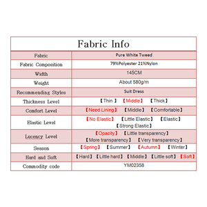 Image 5 - Pearlsilk Zuiver Wit Tweed Kleur Kledingstuk Materialen Stof Lente Pak Rok Diy Kleding Stoffen Gratis Verzending