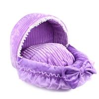 Pink Lace Princess Dog Bed Pink Dog Basket Bed Cat Puppy Pet Beds Cute Lace Princess Pet Dream Nest Pet Kennel Cat Dog Beds
