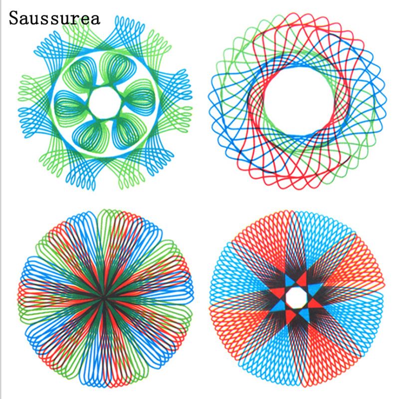 Spirograph Geometric Tools Drawing Cetvel Seti Ruler De Dibujo Student Learning Drawing Creative Line Spirograph Set De Reglas