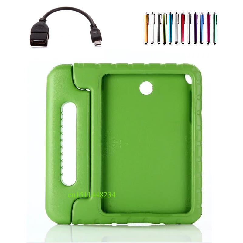 For Samsung Tab A 9.7 Children shockproof case for samsung galaxy tab a 9.7 inch  SM-T550 T555 P550 Silicone Handle stand case lovemei shockproof gorilla glass metal case for galaxy note4 n9100