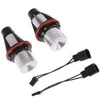 1 Pair 5W Error Free White 2 LEDs Angel Eyes Halo Ring Light Lamp Bulbs Marker
