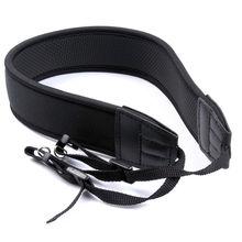цена на Black Skidproof Elastic Neoprene Neck Strap for Nikon Canon Pentax Sony Olympus Camera DSLR