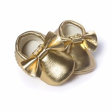 Gold Baby Boy Shoe New Year Gift baby girl moccasins Newborn