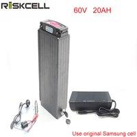 Задняя стойка Электрический велосипед батарея 60 в 3000 Вт литий ионный аккумулятор 60 в 20ач для 2000 Вт электромотор + Электропитание для samsung cell